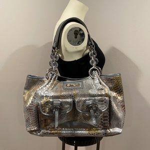 Sharif Studio Bags Metallic Snake Skin Print Purse